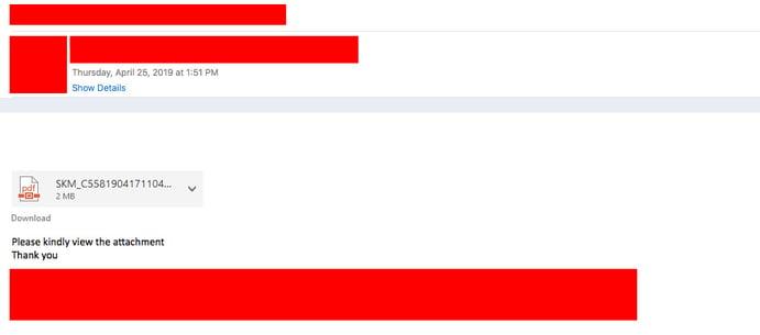 Email Phishing Screenshot